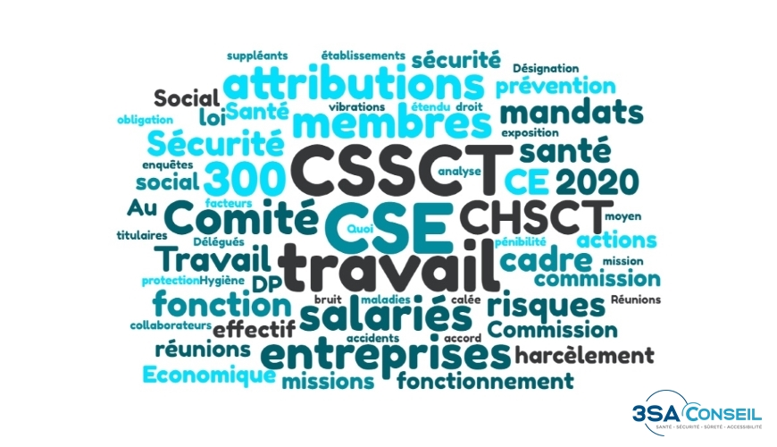 Nuage de mot CSE CSSCT